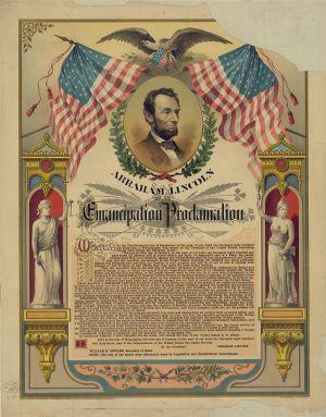 An image depicting the Emancipation Proclamation (civilwar.org)