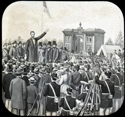 Mr. Lincoln giving the Gettysburg Address (https://history.howstuffworks.com/historical-events (how stuff works))