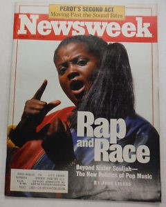 Sister Souljah on the cover of a magazine (www.ebay.com (newsweek magazine))