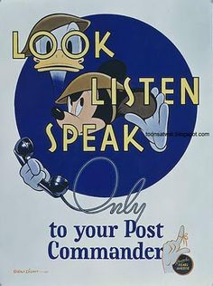 Disney propaganda cartoon poster ( ())