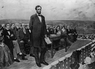 Lincoln at Gettysburg. (http://thefederalist.com/2013/11/19/a-new-birth-of ())