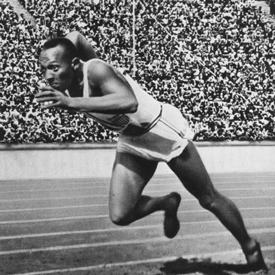Jesse Owens determined to win the race.  (https://en.wikipedia.org/wiki/Jesse_Owens (unknown ))