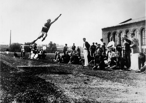 He set the long jump record that held for 25 years (https://www.google.com/search?q=jesse+owens+long+j (unknown ))