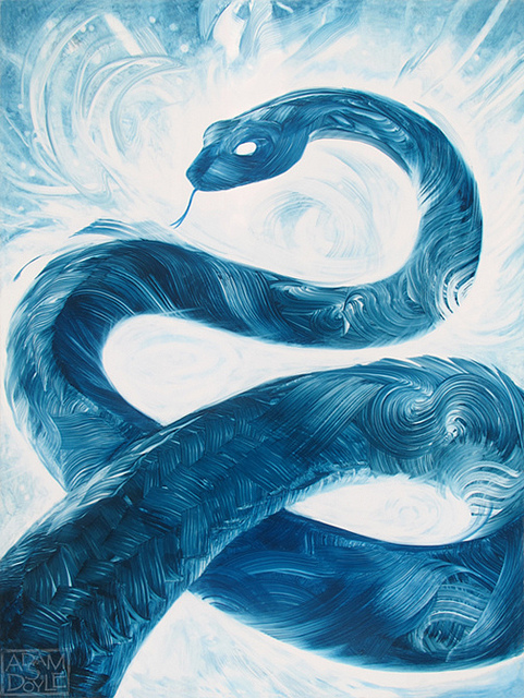 A Snake (http://thegrid.soup.io/tag/brushstrokes (Adam S. Doyle))