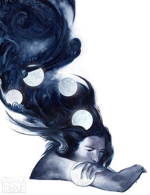 Moons (http://inspirationfeed.com/inspiration/artists/awe (Adam S. Doyle))