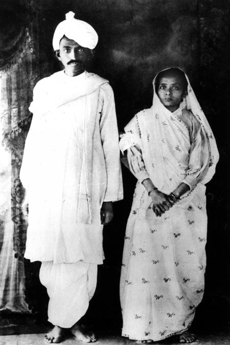 Gandhi and his wife ( http://www.news18.com/news/buzz/30-rare-vintage-photos-of-mahatma-gandhi-from-his-days-as-a-law-stu)