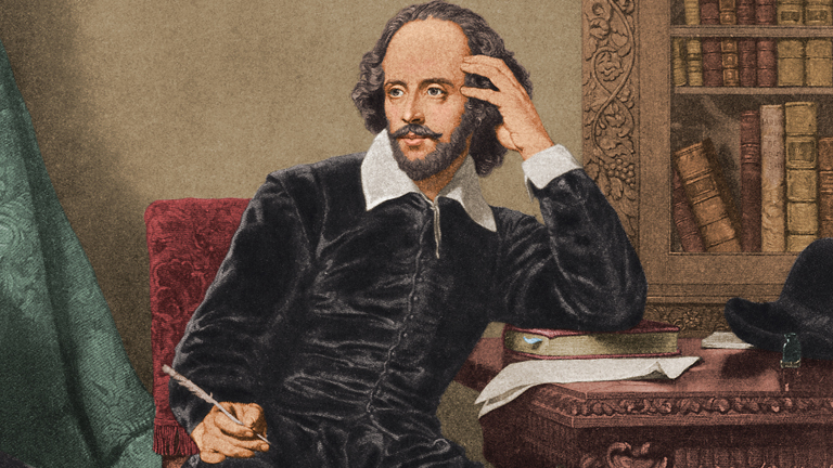 William at work (http://www.biography.com/people/william-shakespear (http://www.biography.com/people/william-shakespear))