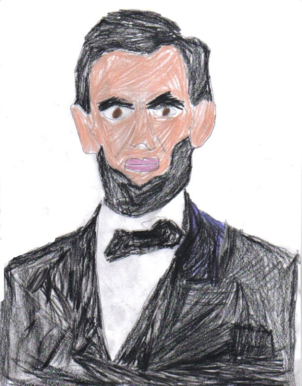 Abraham Lincoln potrit  (I made it  (Declan))