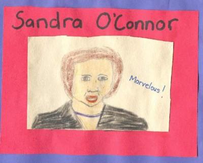 Sandra O'Connor (I drew this picture.)