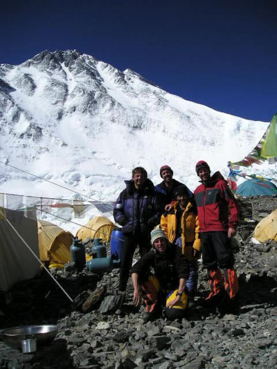 The Team - Andrew Brash, Myles Osborne and Jangbu Sherpa