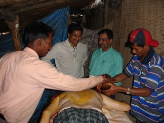 Dr. Deepak Acharya with Dr. Nanda in Dangs (By Dr Acharya)