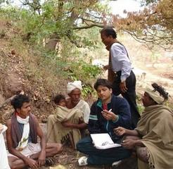 Dr. Acharya among the Bhumkas of Patalkot (Given by Dr. Acharya)
