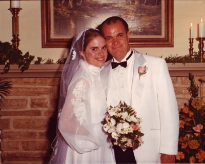 June 21, 1981 Me and my dad on my wedding day. (family photo)