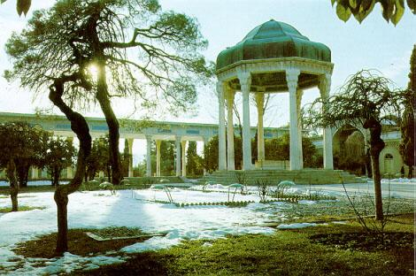 Tomb of Hafez in Shiraz<br>(https://www.iranonline.com/iran/Fars/images/hafez.JPG)