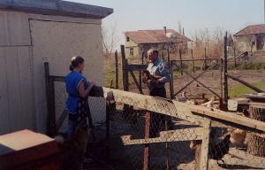 Vilmos in his yard