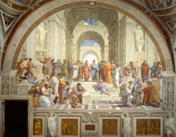 <a href=http://www-history.mcs.st-andrews.ac.uk/~history/Diagrams/School_of_Athens.jpeg>Raphael's 'The School of Athens'</a href>