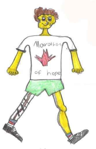 Terry Fox Running (I drew it.)