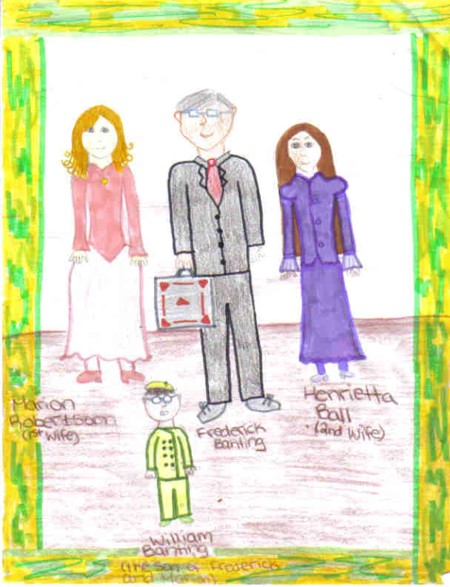 Frederick Banting and his family (I drew it)