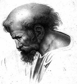 A Profile of the <a href=http://www-history.mcs.st-andrews.ac.uk/PictDisplay/Pythagoras.html>Aging Pythagoras</a>