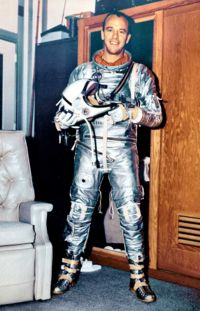 Alan Shepard in his Space Suit. (NASA)