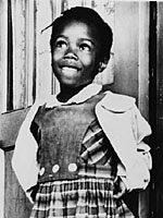 Ruby Bridges, 1960<br>(http://www.loc.gov/exhibits/brown/images/br0148s-th.jpg)