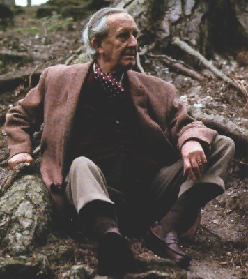Tolkien in the nature he loved <br>(http://www.arwen-undomiel.com/tolkien/images/Tolkien_11.jpg)