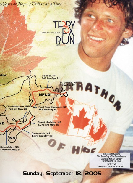 <a href=http://www.westernwheel.com/050914/images/terry%20fox.JPG>Terry Fox with the map of his journey </a>