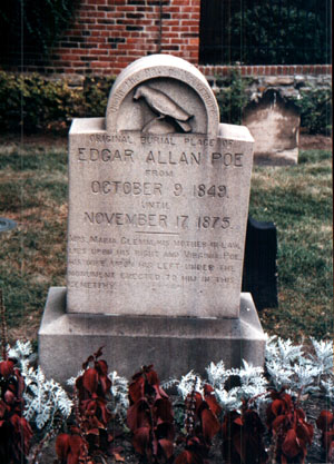 Poe's grave with the famous Raven symbol (www.cswnet.com/~erin/eapgrave.jpg )