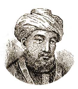 Old hand-drawn sketch of Maimonides <br> (https://www.jewishworldreview.com<br>/0105/maimonides_vatican.php3)