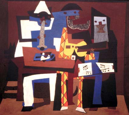 Mr. Lamer's different shape and sizes from <a href=http://myhero.com/images/guest/g43145/hero37676/g43145_u40520_picaso_los_tres_musicos.jpg>Picasso's Three Musicians</a>