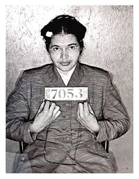 This picture is a mug shot of Rosa Parks. (http://en.wikipedia.org/wiki/Rosa_Parks)