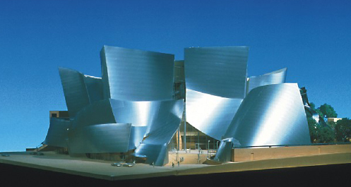 The Walt Disney Concert Hall Downtown Los Angeles<br>The physical model of Frank Gehry's Walt Disney Concert Hall. Photo courtesy of Frank O. Gehry & Associates