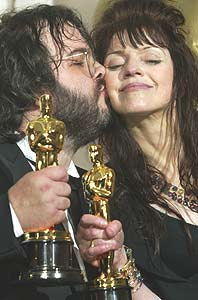 Peter Jackson with his wife, Fran Walsh (achievement.org)