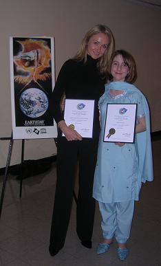 Alexandra and Slater at the United Nations (Jan Cousteau)