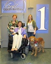 Sandy (at left) and Jeni at Oprah taping. (Jeni Stepanek ())