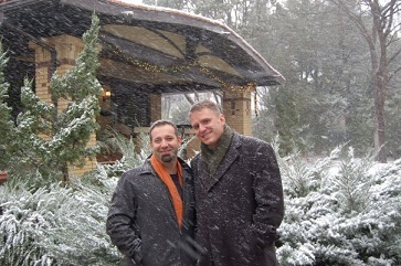 J.D. and Joel in the snow (Joel Burns)