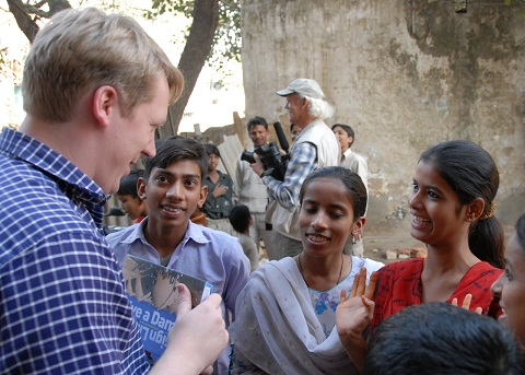 Cameron in India after tsunami (Architecture For Humanity)