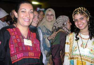 Teachers and students during the national dress celebration at iEARN's 2004 conference in Kosice, Slovakia.