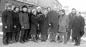 Sakharov and fellow dissidents, 1975