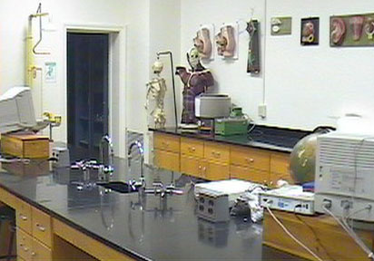 A typical biology laboratory (photo courtesy of  Pennsylvania State University)