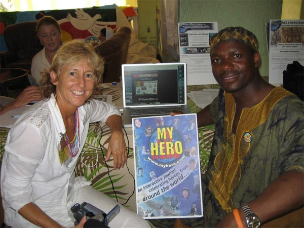 Wendy with Tommy Hamaluba from Botswana at iEARN 2005