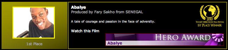 2010 MY HERO Short Film Festival 1st Place Winner: Abalye